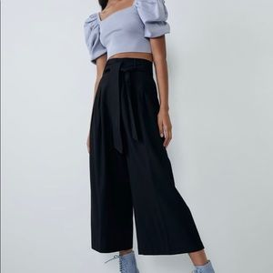 Zara culottes with belts